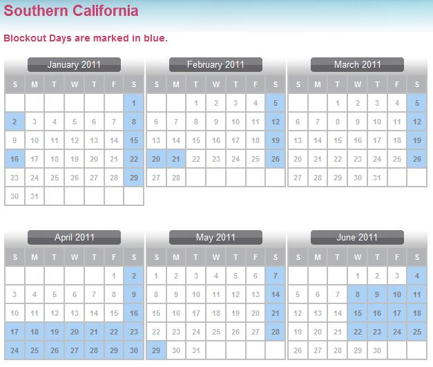 Disneyland Annual Pass Calendar World Of Printable And Chart