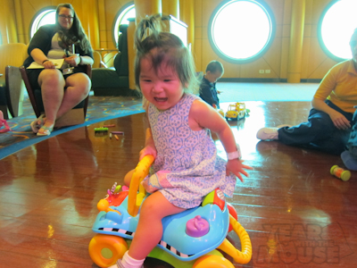 She also liked the ride-on toy